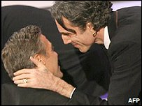 George Clooney and Daniel Day Lewis
