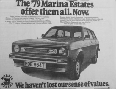 Marina advert from Irish News