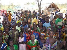 Bush village gathering