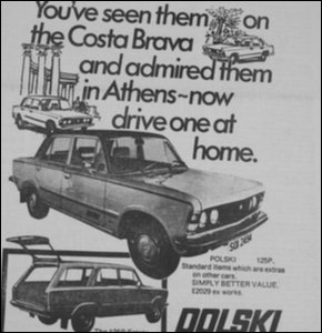 Polski car ad ex Irish News