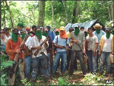 Around 200 farmers invaded a private farm in Concepcion 12/12/2008
