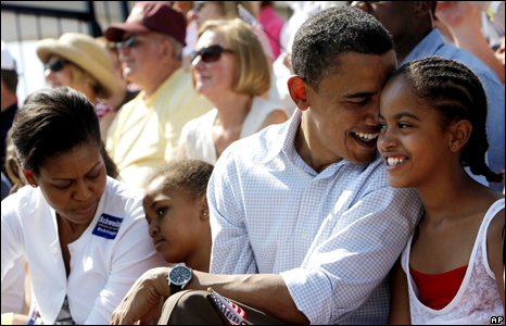 The Obama family (July 2008)