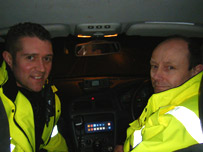 PCs Gareth James and Robbie Burns