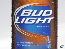 A bottle of Bud Light