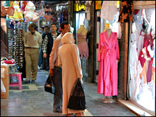 Souq Nasri - area selling women's underwear in Hamadiyeh Souk (Photo by Martin Asser)