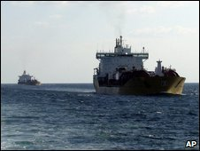 Merchant vessels in the Gulf of Aden