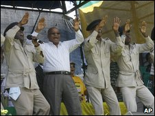 ANC leader Jacob Zuma at an MK celebration outside Bloemfontein 16/12/2008
