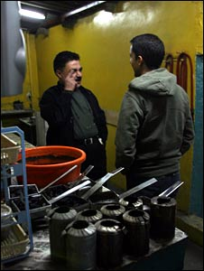 Aleem and cafe owner Abu Ghassan