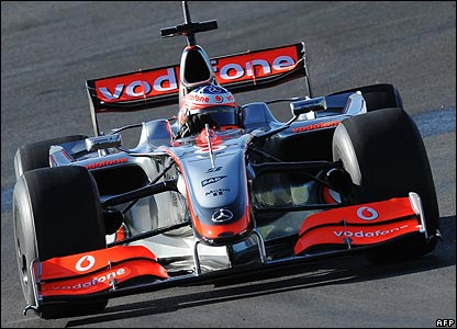 McLaren test driver Gary Paffett running a 2009-spec front wing at the new Algarve circuit