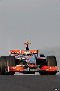 McLaren test driver Pedro de la Rosa in McLaren's F1 test car