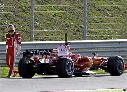 Ferrari test driver Luca Badoer at the Algarve test