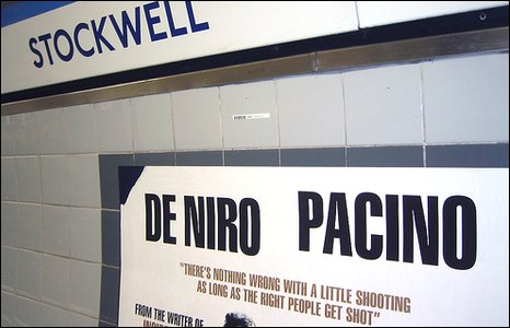 The Righteous Kill poster at Stockwell Tube station. Pic by Flickr user coconinoco