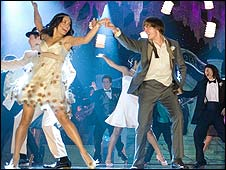 Vanessa Hudgens and Zac Efron in High School Musical 3: Senior Year