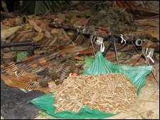 'Captured' Sri Lankan army weaponry