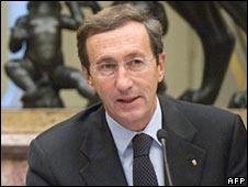 Italian parliament Speaker Gianfranco Fini