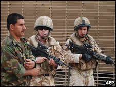 British and Iraqi troops in Basra