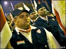 Members of the Hungarian Guard. File photo