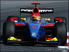GP2 champion Timo Glock in his iSport car
