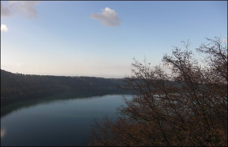 View of Lake Albano from Villa Palazzola