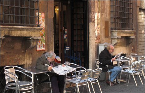 Cafe in Rome