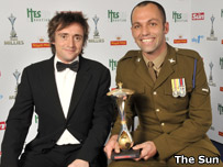 Richard Hammond and Lance Corporal Jan Fourie