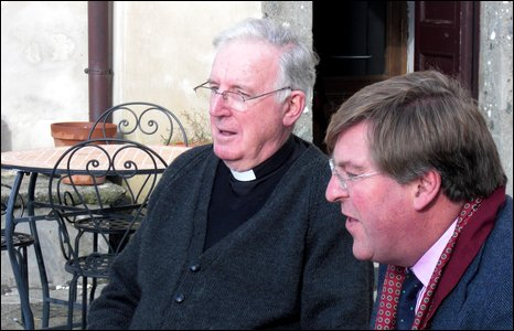 The Cardinal with Today presenter Edward Stourton
