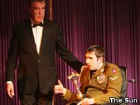 Jeremy Clarkson and Lance Bombardier Ben Parkinson
