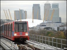 DLR and Canary Wharf
