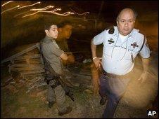 Israeli police at scene of rocket attack - photo 16 November