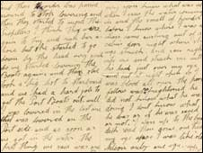 Extract from Archie Jewell letter (Pic: Sotheby's)
