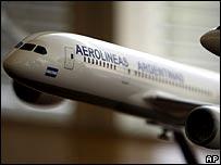 Modelo de avión de Aerolineas Argentinas