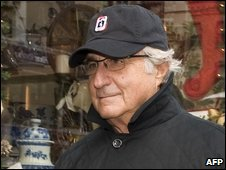 Bernard L Madoff walking down Lexington Ave