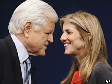 Ted Kennedy and niece Caroline Kennedy