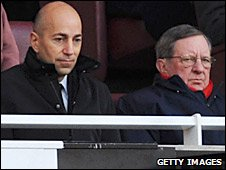 New Arsenal chief executive Ivan Gazidis and chairman Peter Hill-Wood