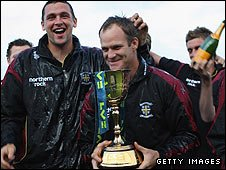 Durham celebrate winning the 2008 title