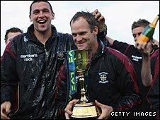 Durham celebrate winning the 2008 title