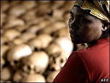 Genocide memorial site guardian, Danielle Nyirabazungu (pictured in 2004)