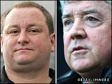 Joe Kinnear and Mike Ashley
