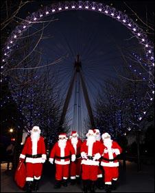 London Eye Santas