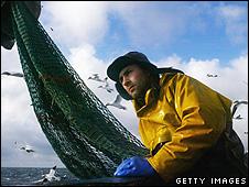 A Scottish fisherman in North Atlantic