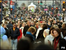 Christmas shoppers recently on London's Oxford Street