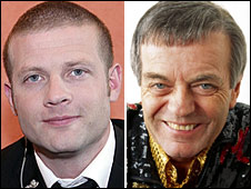 Dermot O'Leary and Tony Blackburn