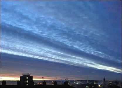 Belfast dawn sky