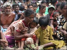 Displaced Tamil people in the north