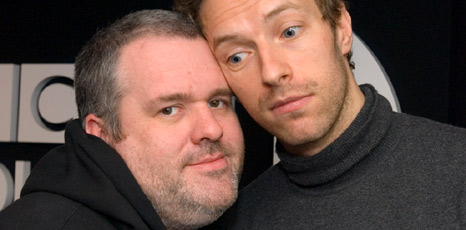 Chris Moyles and Chris Martin