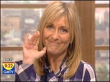 Fiona Phillips on her last show. Courtesy GMTV