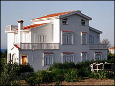 The Orams' villa in northern Cyprus