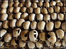 Skulls at genocide memorial