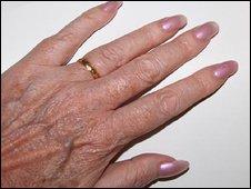 Hand with nail polish - generic