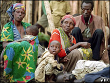 Tutsi family in a camp in 1994